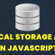 A quick video tutorial about local storage api in Javascript. I hope you will like it. [crayon-5d2ff02a98300428191336/]