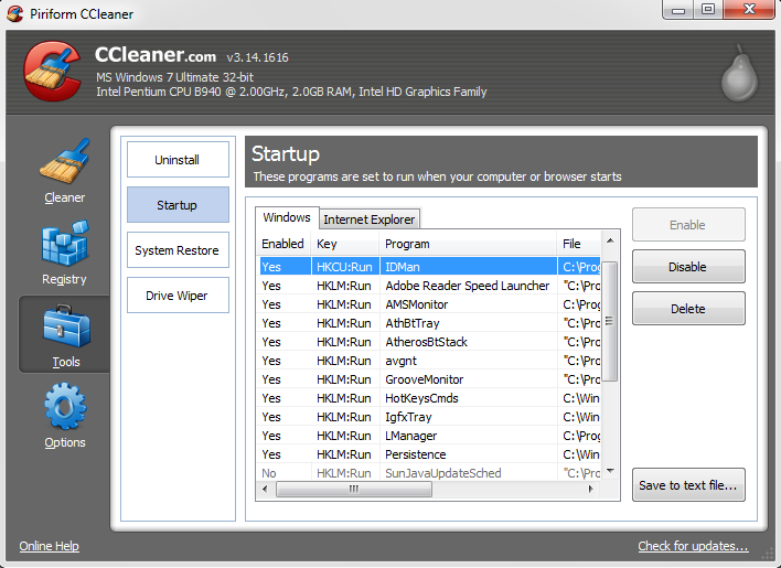 Binary options ccleaner