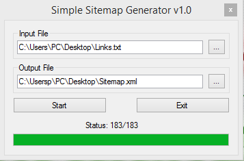 Text File to XML Sitemap File Converter