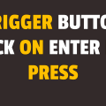 how to trigger button click on enter key press using javascript
