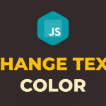 How to Change Text Color Onclick in Javascript