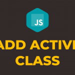 How to Add Active Class in Javascript