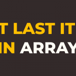 how to get last element in array in javascript